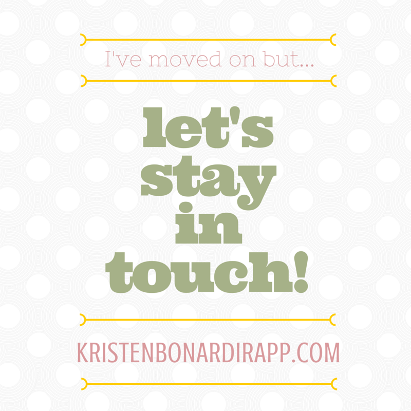 let's stay in touch!